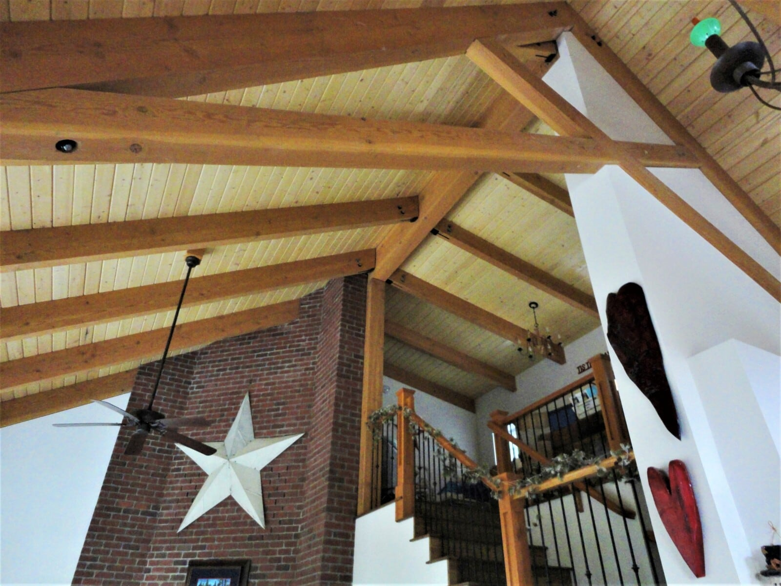 lofted wood ceiling